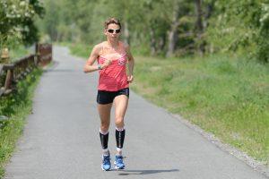 Catherine Bertone in allenamento ad Aosta