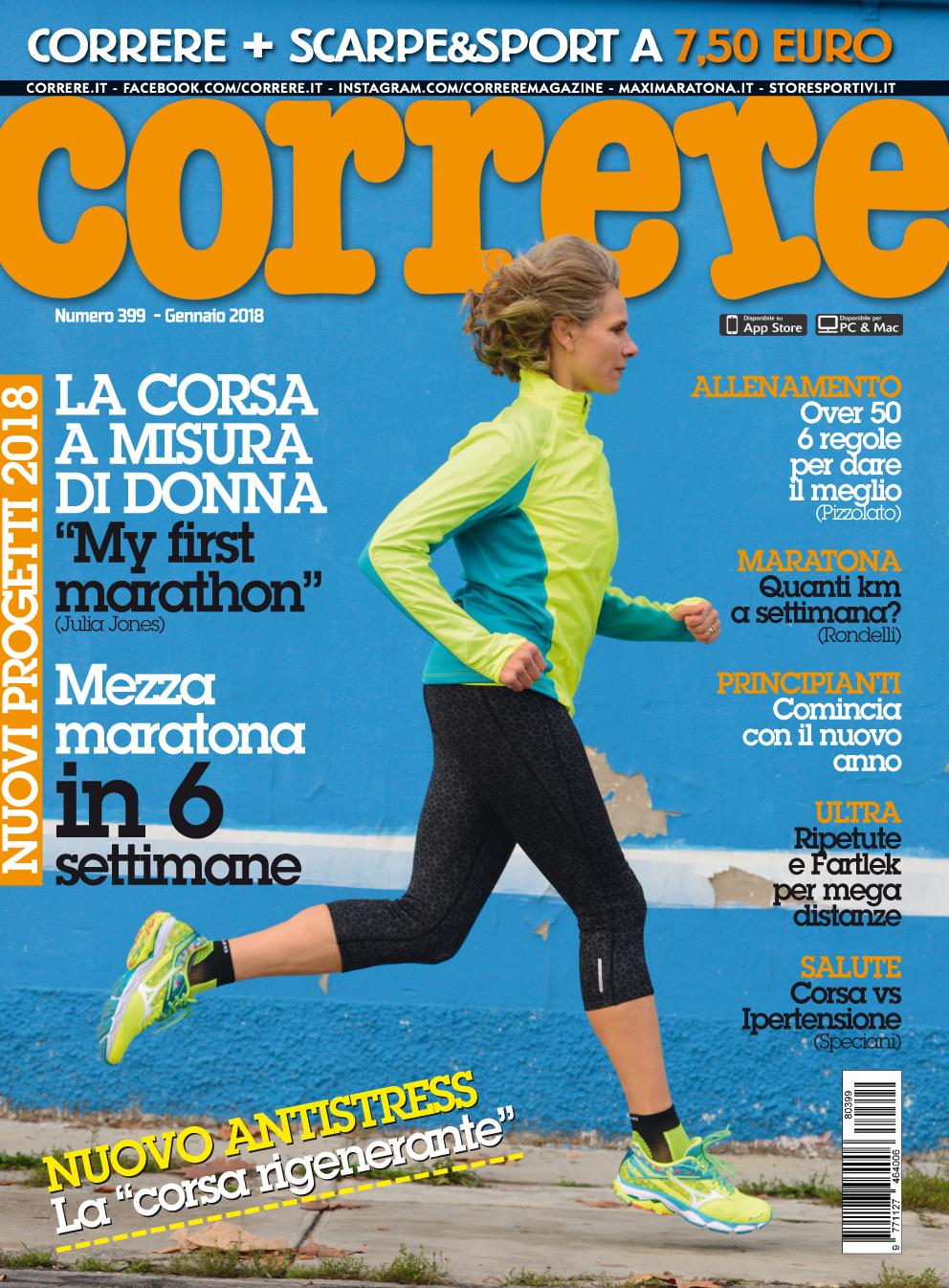 Cover Correre gennaio 2018