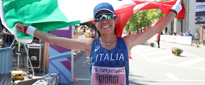 Eleonora Giorgi vincitrice della 50km di marcia - foto di Giancarlo Colombo