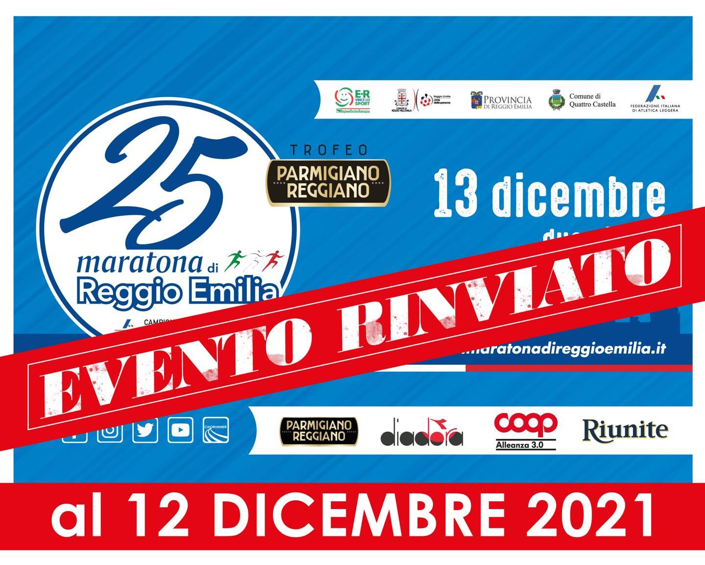 Maratona di Reggio Emilia rinviata
